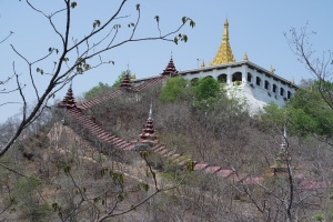 View of Mandalay Hill from the  base.