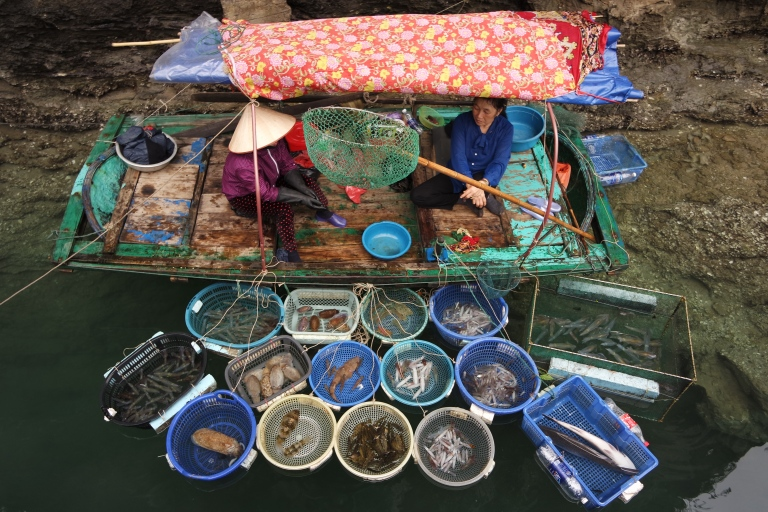 Fish for sale in Halong Bay