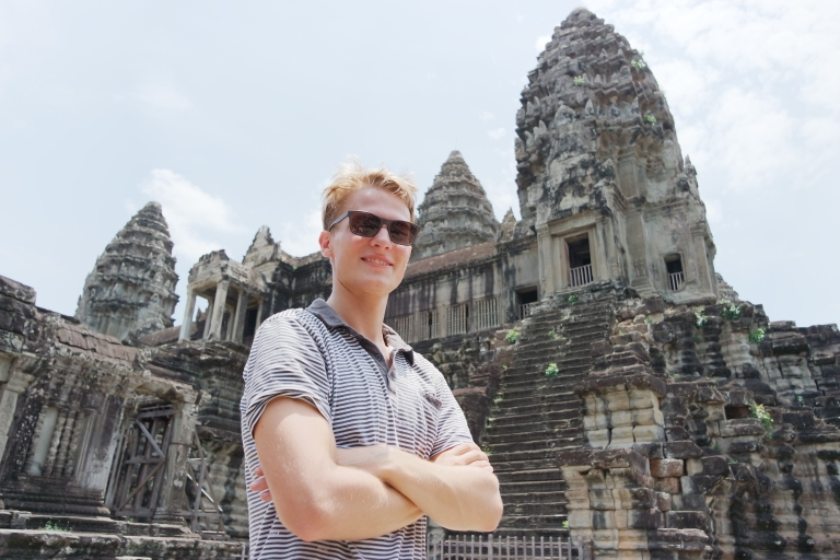 In front of Angkor Wat